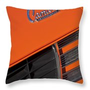 1969 Rs-ss Chevrolet Camaro Grille Emblem Throw Pillow