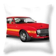 1969 Shelby Cobra Gt 500 Retro Sports Car Throw Pillow