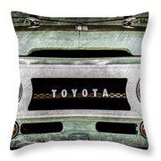 1969 Toyota Fj-40 Land Cruiser Grille Emblem -0444ac Throw Pillow