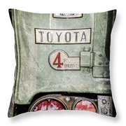 1969 Toyota Fj-40 Land Cruiser Taillight Emblem -0417ac Throw Pillow