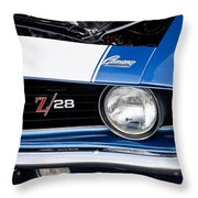 1969 Z28 Camaro Real Muscle Car Throw Pillow