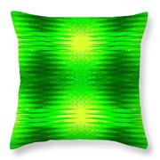 197 - Deco Green 2 Throw Pillow