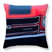 1970 Chevrolet El Camino Ss Grille Emblem Throw Pillow
