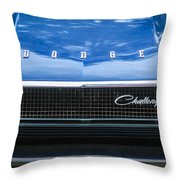 1970 Dodge Challenger Rt Convertible Grille Emblem -0545c Throw Pillow