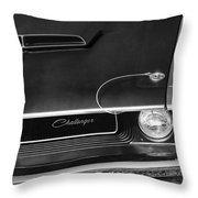 1970 Dodge Challenger T/a In Black And White Throw Pillow