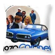 1970 Dodge Coronet 500 Throw Pillow