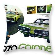 1970 Dodge Coronet R/t Throw Pillow