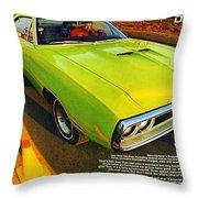 1970 Dodge Coronet Super Bee Throw Pillow