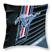 1970 Ford Mustang Boss 302 Fastback Grille Emblem Throw Pillow