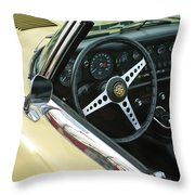 1970 Jaguar Xk Type-e Steering Wheel Throw Pillow
