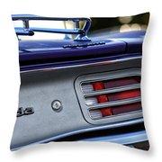 1970 Plum Crazy Purple Plymouth 'cuda Throw Pillow