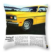 1970 Plymouth Duster 340 Throw Pillow