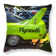 1970 Plymouth Road Runner Hemi Super Bird  Throw Pillow