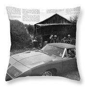 1970 Plymouth Superbird - Announcing A New Kind Of Runner Throw Pillow