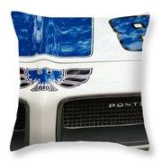 1970 Pontiac Firebird Grille Emblem Throw Pillow by Jill Reger