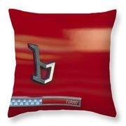 1971 Alfa Romeo Montreal Emblem Throw Pillow