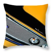 1971 Amc Javelin Amx Grille Emblem Throw Pillow