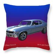 1971 Chevy Nova S S Throw Pillow