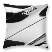 1971 Dodge 426 Hemi Challenger Rt Hood Emblem Throw Pillow by Jill Reger