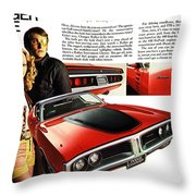 1971 Dodge Charger Rallye Throw Pillow