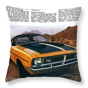 1971 Dodge Demon 340 Throw Pillow