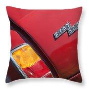 1971 Fiat 500 Jolly Taillight Throw Pillow