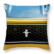 1971 Ford Mustang Mach 1 Front End Throw Pillow