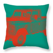1971 Land Rover Pick Up Truck Modern Art Throw Pillow