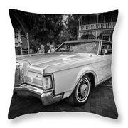 1971 Lincoln Continental Mark IIi Painted Bw   Throw Pillow