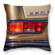 1971 Mercedes-benz 280se 3.5 Cabriolet Taillight Emblem Throw Pillow
