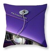 1971 Plum Crazy Purple Plymouth 'cuda 440 Throw Pillow by Gordon Dean II