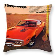 1971 Plymouth Road Runner Throw Pillow
