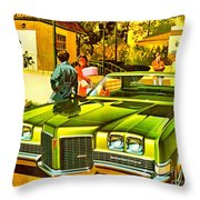 1971 Pontiac Bonneville Coupe Throw Pillow