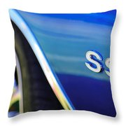 1972 Chevrolet Chevelle Ss Emblem Throw Pillow