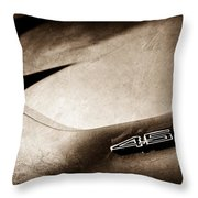 1972 Chevrolet Corvette Convertible Stingray 454 Hood Emblem Throw Pillow