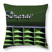 1972 Chevrolet Corvette Stingray Emblem Throw Pillow