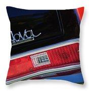 1972 Chevrolet Nova Ss Taillight Emblem -0355c Throw Pillow