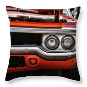 1972 Plymouth Road Runner Throw Pillow