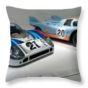 1972 Porsche 917 Lh Coupe And 1970 Porsche 917 Kh Coupe Throw Pillow