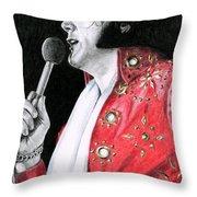 1972 Red Pinwheel Suit Throw Pillow