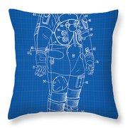 1973 Nasa Astronaut Space Suit Patent Art Throw Pillow
