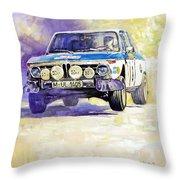 1973 Rallye Of Portugal Bmw 2002 Warmbold Davenport Throw Pillow