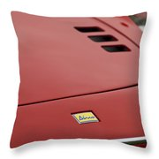 1974 Ferrari Dino 246gts Hood Emblem Throw Pillow
