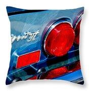 1974 Ferrari Dino Targa Gts Taillight Emblem Throw Pillow