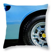 1974 Ferrari Dino Targa Gts Wheel Emblem Throw Pillow