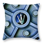 1974 Maserati Merak Wheel Emblem Throw Pillow
