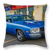 1974 Plymouth Roadrunner Throw Pillow