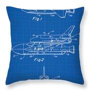 1975 Nasa Space Shuttle Patent Art 1 Throw Pillow