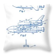 1975 Nasa Space Shuttle Patent Art 2 Throw Pillow