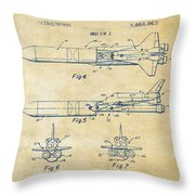 1975 Space Vehicle Patent - Vintage Throw Pillow